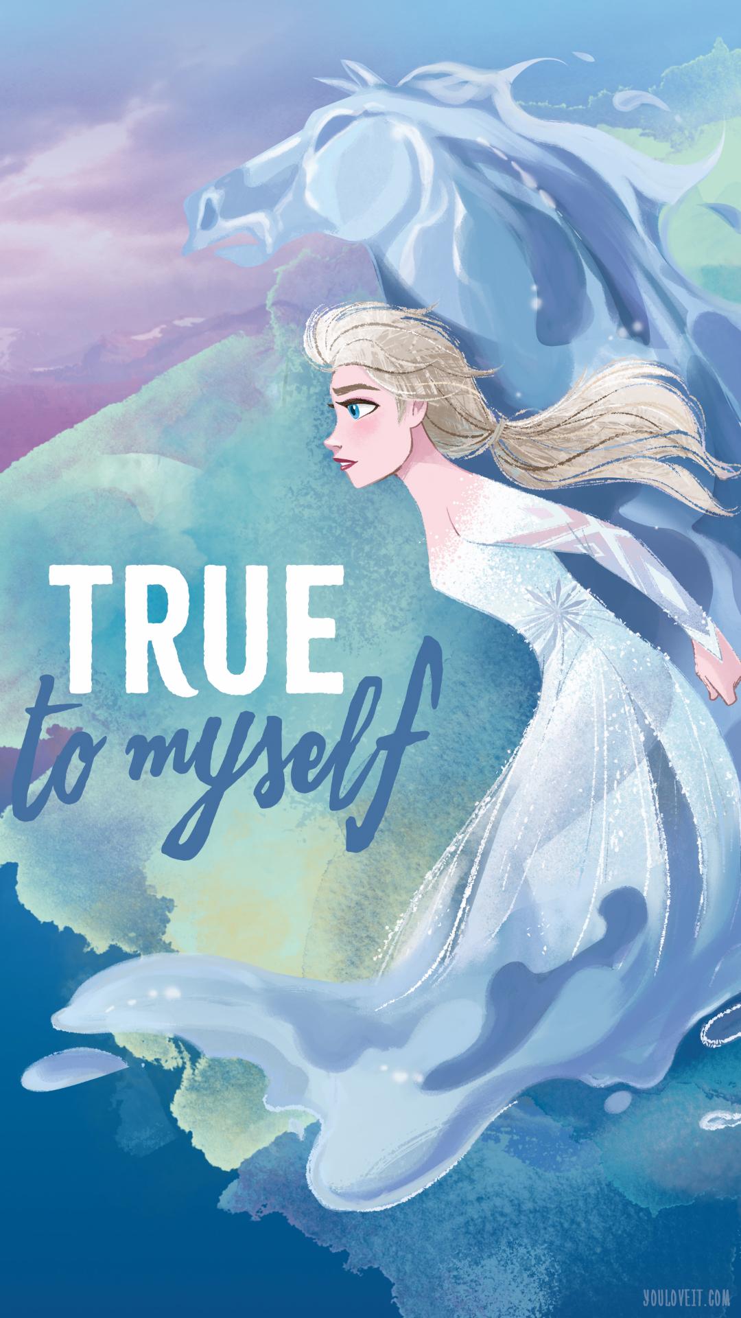 Elsa Phone Wallpaper - Frozen 2 Elsa And Nokk - HD Wallpaper