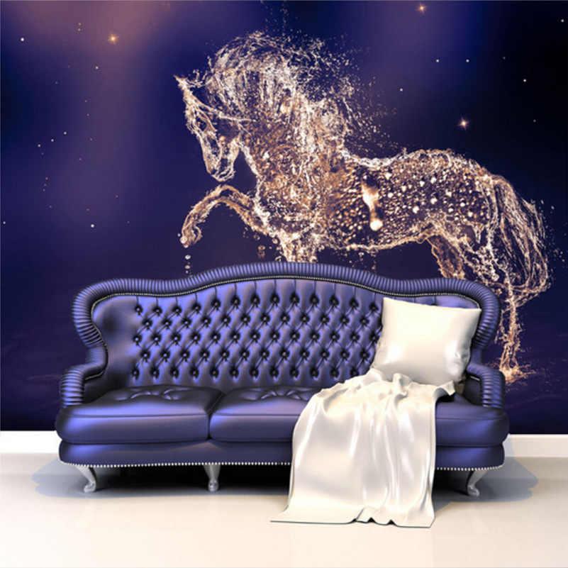 Custom 3d Photo Wallpaper Modern Living Room Bedroom - Конь Из Воды - HD Wallpaper