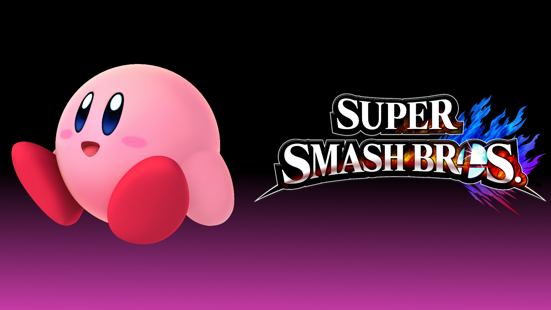 Kirby Wallpaper From Super Smash Bros Ultimate - HD Wallpaper