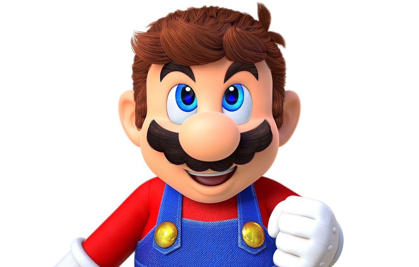 Photo Wallpaper Mustache Hair Hand Nose Mario Super Mario