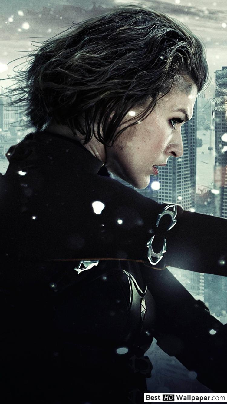 Resident Evil Retribution Poster 750x1334 Wallpaper Teahub Io
