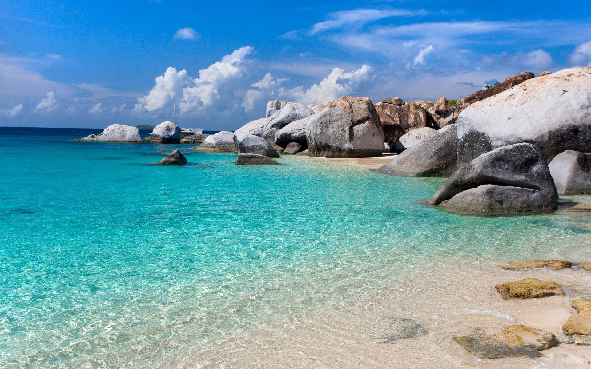 Sea And Ocean Water Travel Seashore Beach Sea Ocean - Beach Beautiful Blue Water - HD Wallpaper