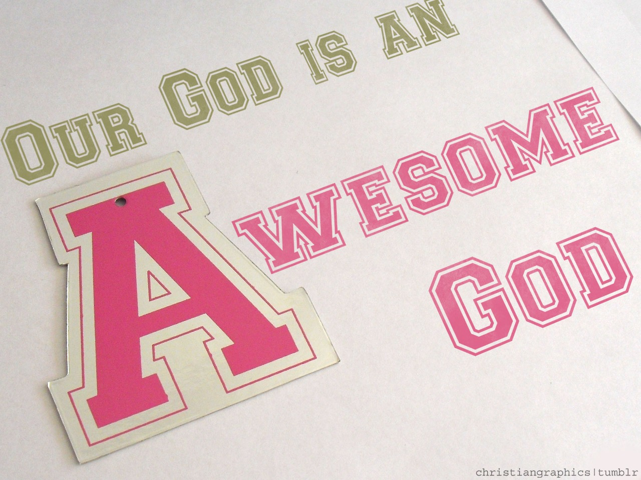 Our God Is An Awesome God Hd Wallpaper - Pink God Quotes Desktop - HD Wallpaper