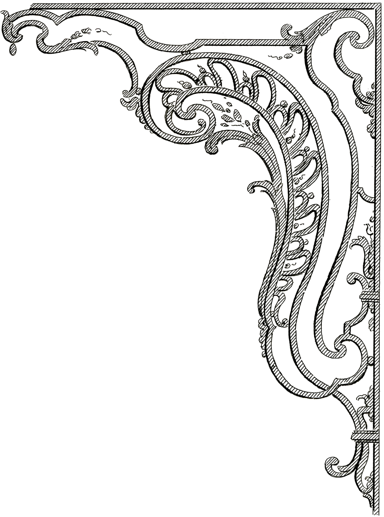 French Corner Ornaments - Vintage Corner Ornament - HD Wallpaper