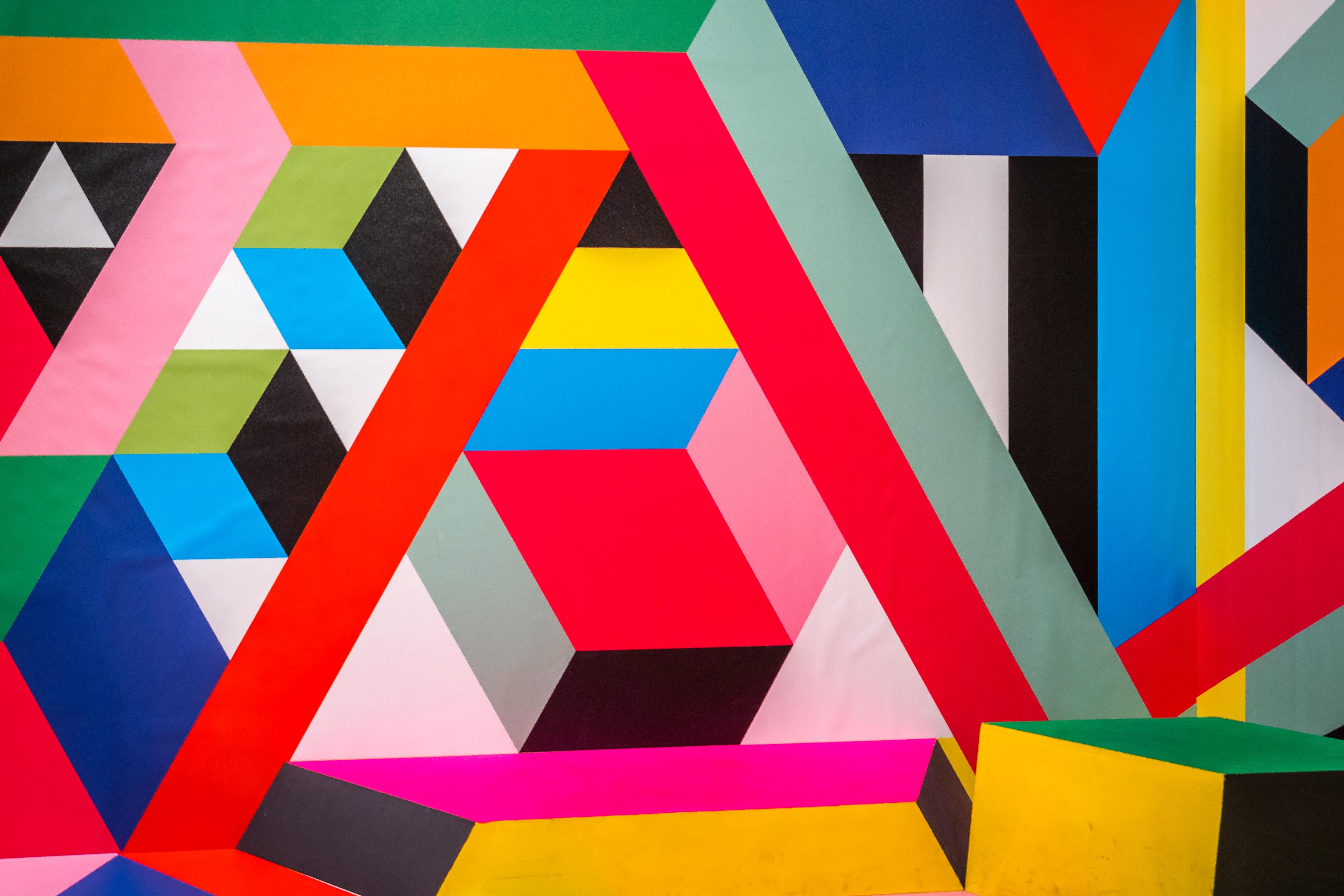 Wallpaper Pattern, Geometric, Colorful, Lines, Shapes, - Geometric Colourful Shapes Background - HD Wallpaper