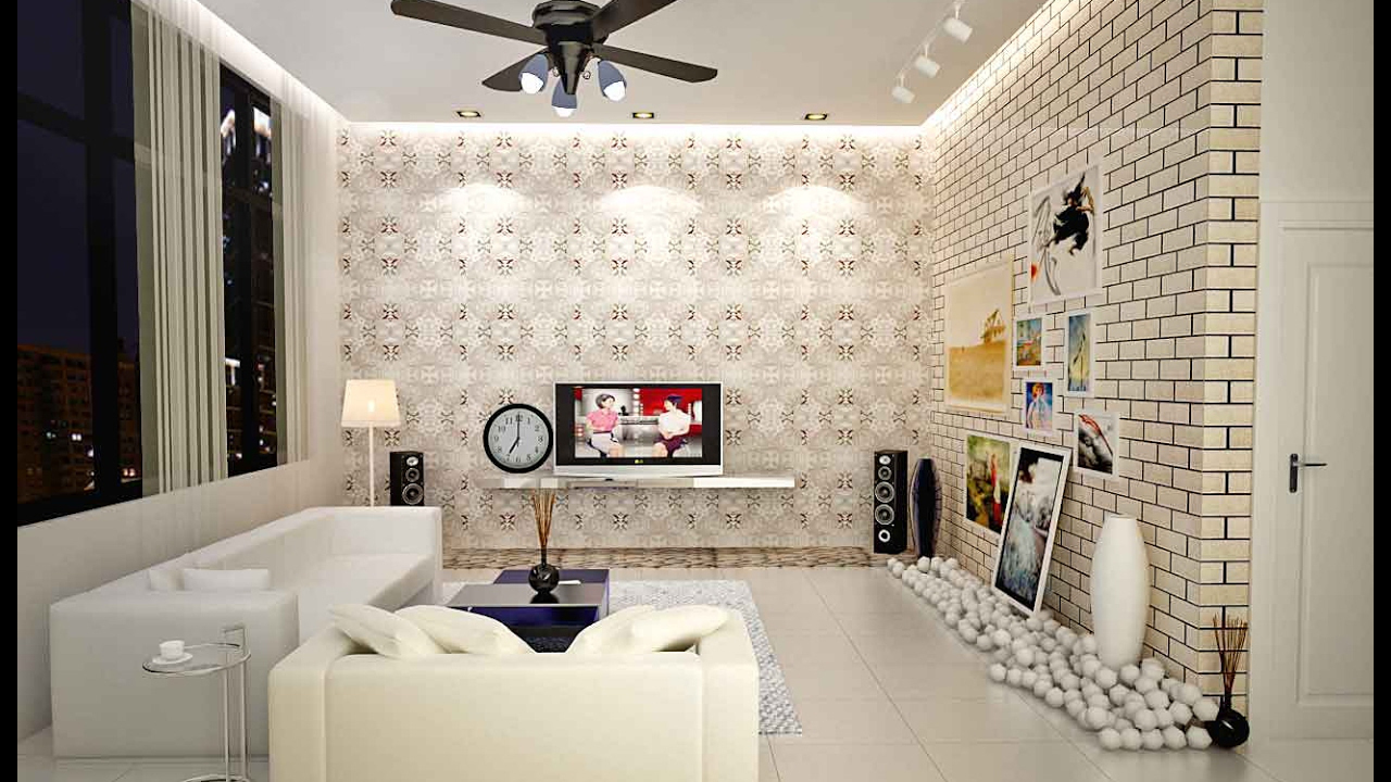 Latest Wallpaper Designs For Living Room Purplebirdblog - Design Ideas For Living Room - HD Wallpaper