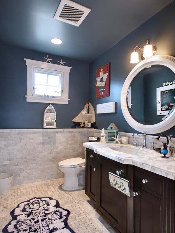 Attractive Nautical Theme Bathroom Best, Sailor Themed Bathroom Accessories