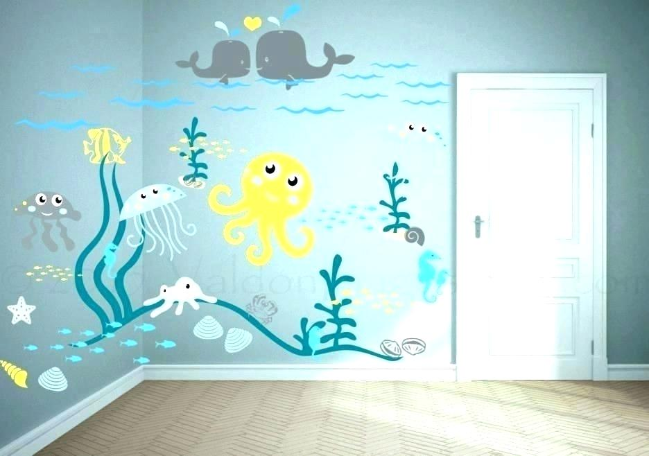 Under The Sea Nursery Theme Beach Theme Bedroom Decor - Baby Room Sea Life Theme - 936x658 Wallpaper - Teahub.io