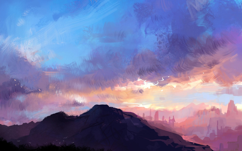 Wiki Art Landscape Mountains Wallpaper Landscapes Walls Anime Landscape 4k 2880x1800 Wallpaper Teahub Io
