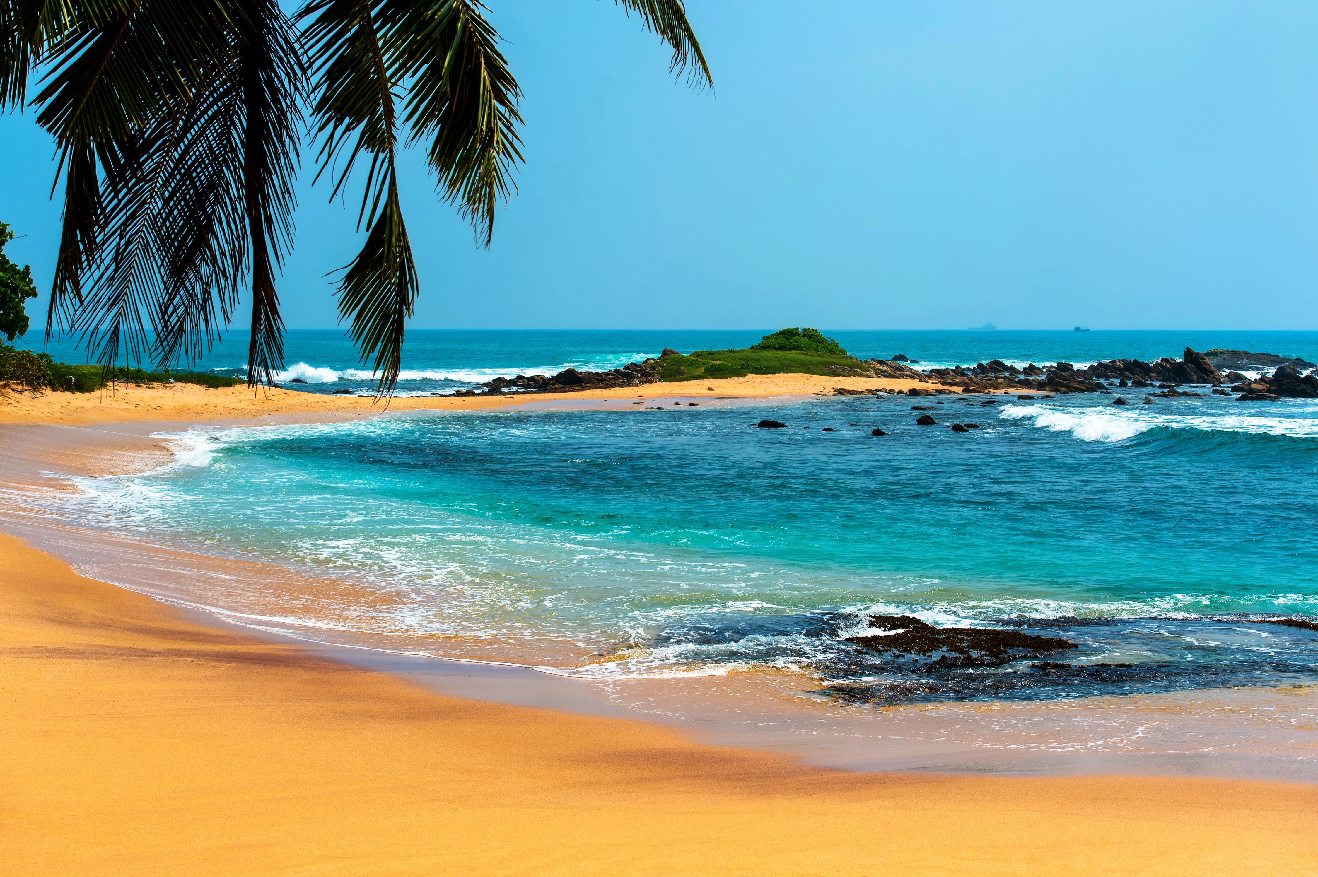 Summer Beach Landscape - HD Wallpaper