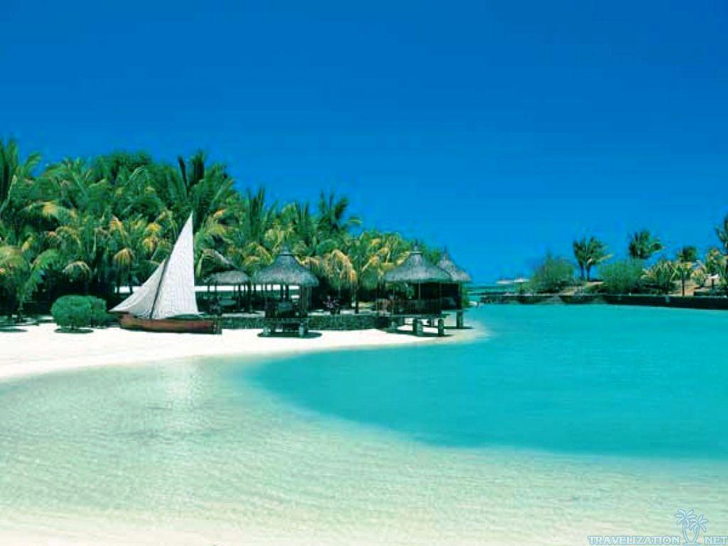 Tropical Beach Wallpaper Desktop Background - Nice Beach Scenery - HD Wallpaper