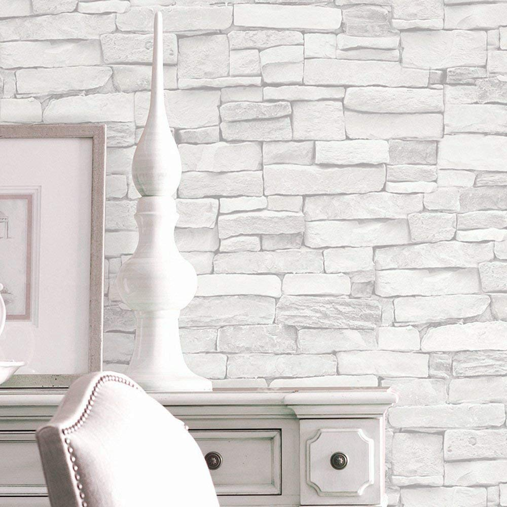 Blooming Wall 5701 3d Faux Brick Stone Wall Mural Wallpaper - Bathroom Wall Covering - HD Wallpaper