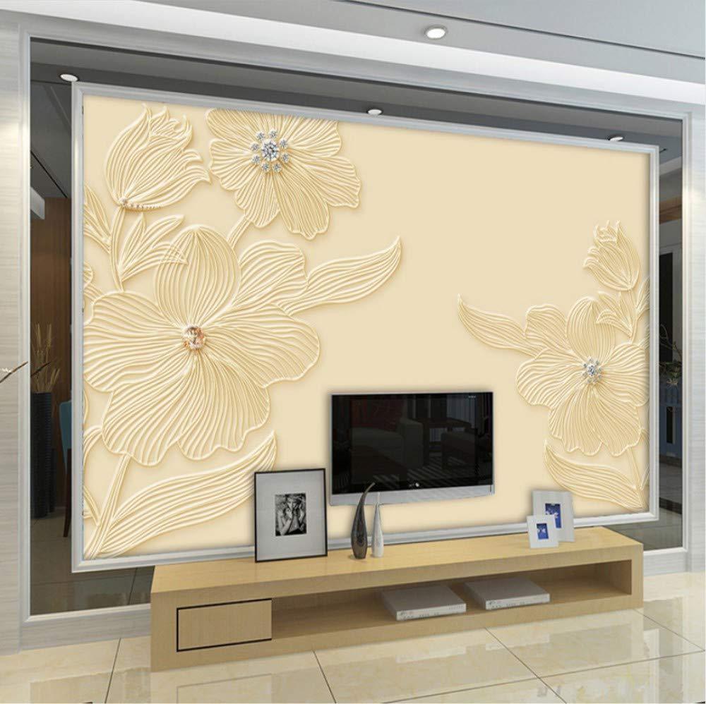 400x 280cm W H 3d Wall Mural Wallpaper Diamond Flower - Wallpaper - HD Wallpaper