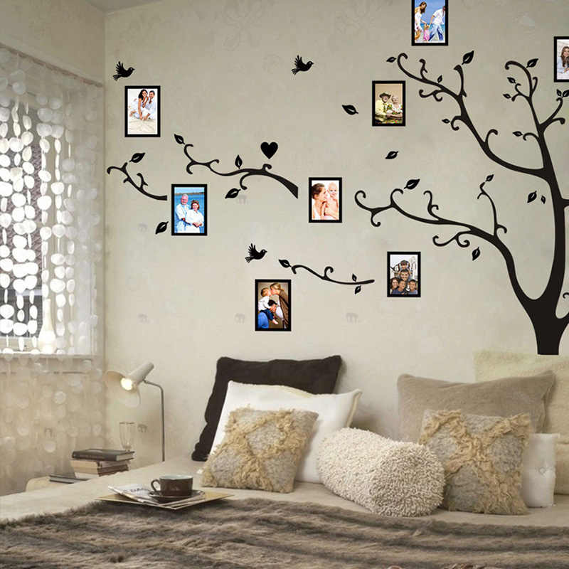Modern Wall Design Stickers For Bedrooms - HD Wallpaper