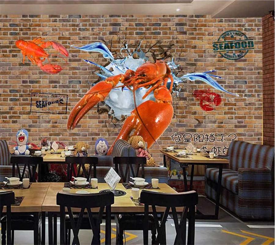 Beibehang Papel De Parede Custom Mural 3d Retro Brick - Coffee Shop Painting - HD Wallpaper