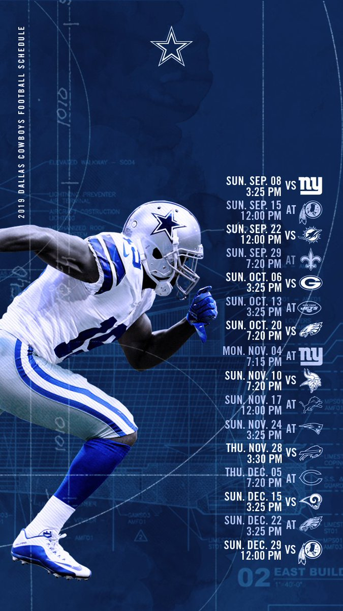Dallas Cowboys Schedule Wallpaper 2019 - HD Wallpaper