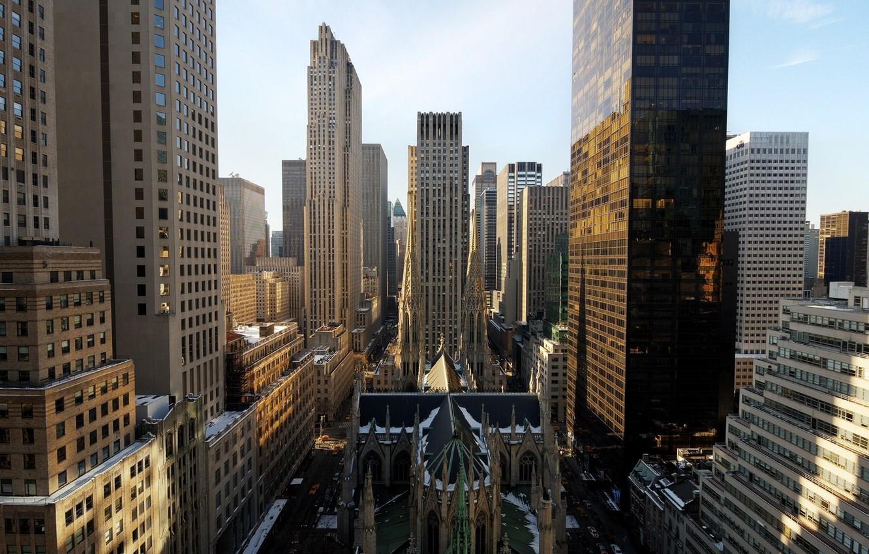 Photo Wallpaper Morning, New York, New York City, Nyc, - New York City Morning - HD Wallpaper