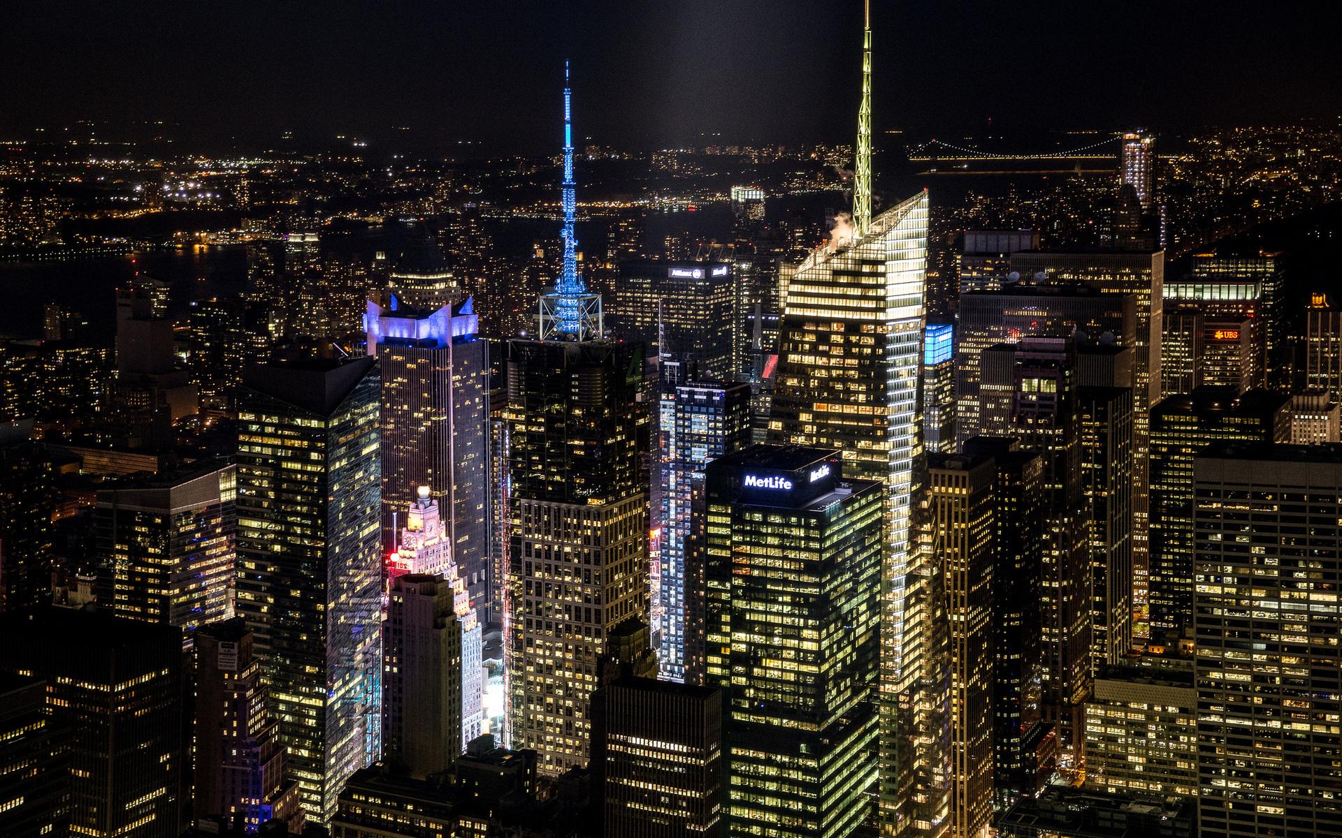 Photo Wallpaper Light, Night, The City, Building, Home, - New York City - HD Wallpaper