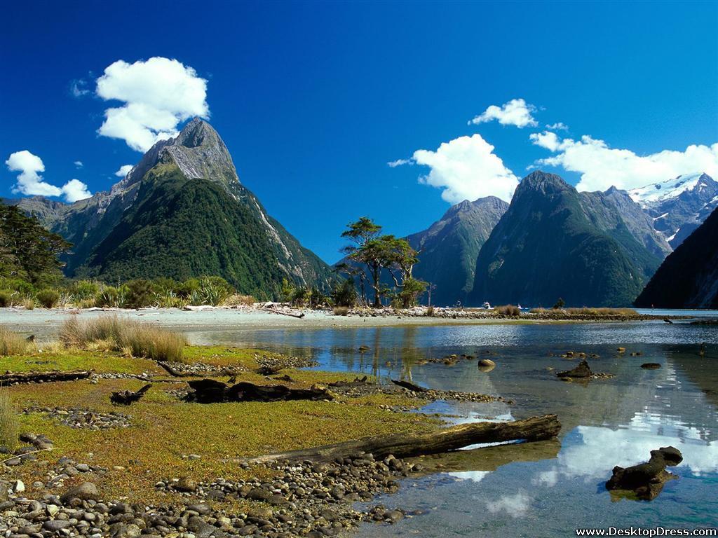 Mitre Peak, Milford Sound, New Zealand - Zealand New Mountain Hd - HD Wallpaper