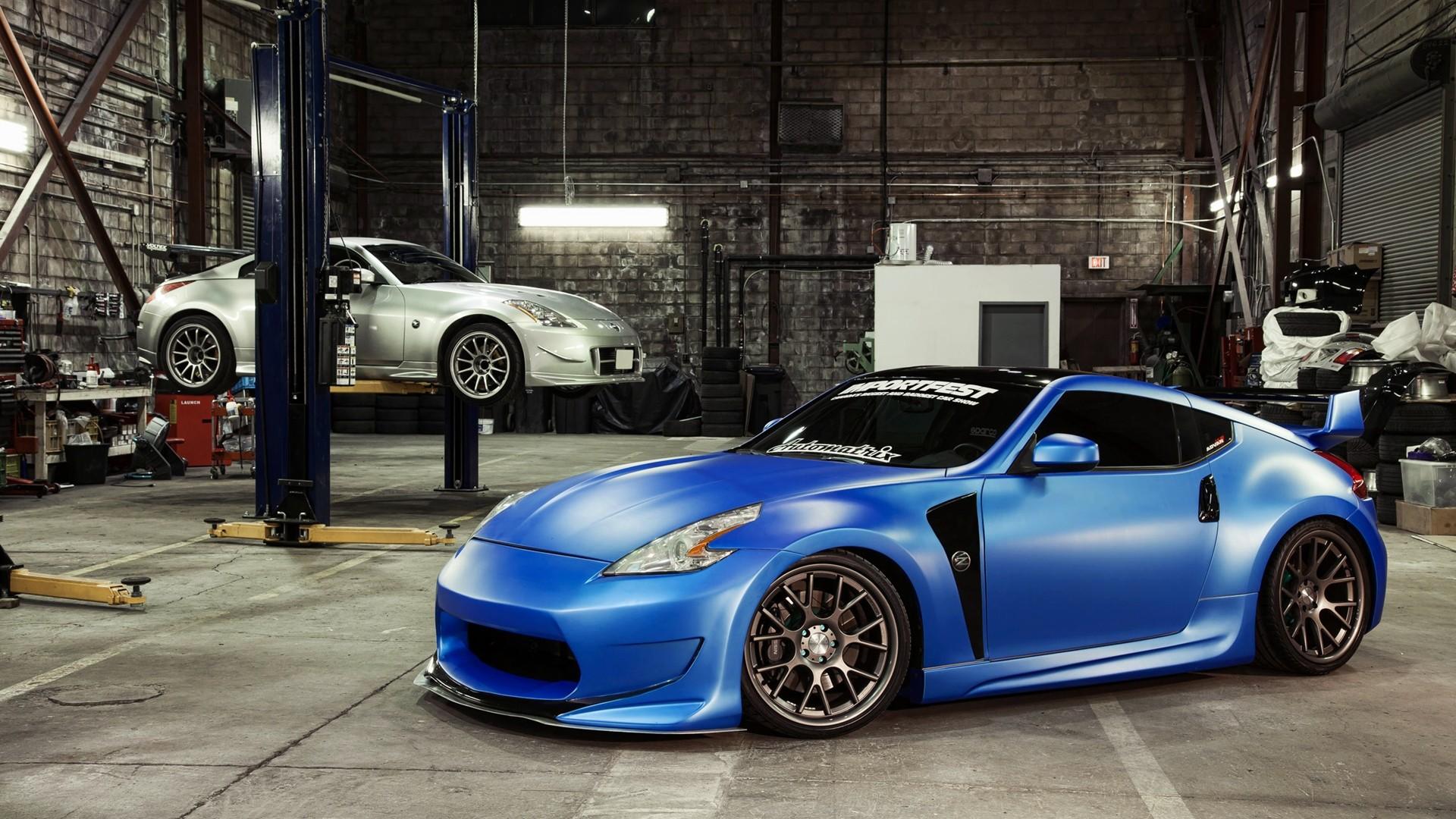 Wallpaper Blue Nissan 350z Body Kit 1920x1080 Wallpaper Teahub Io