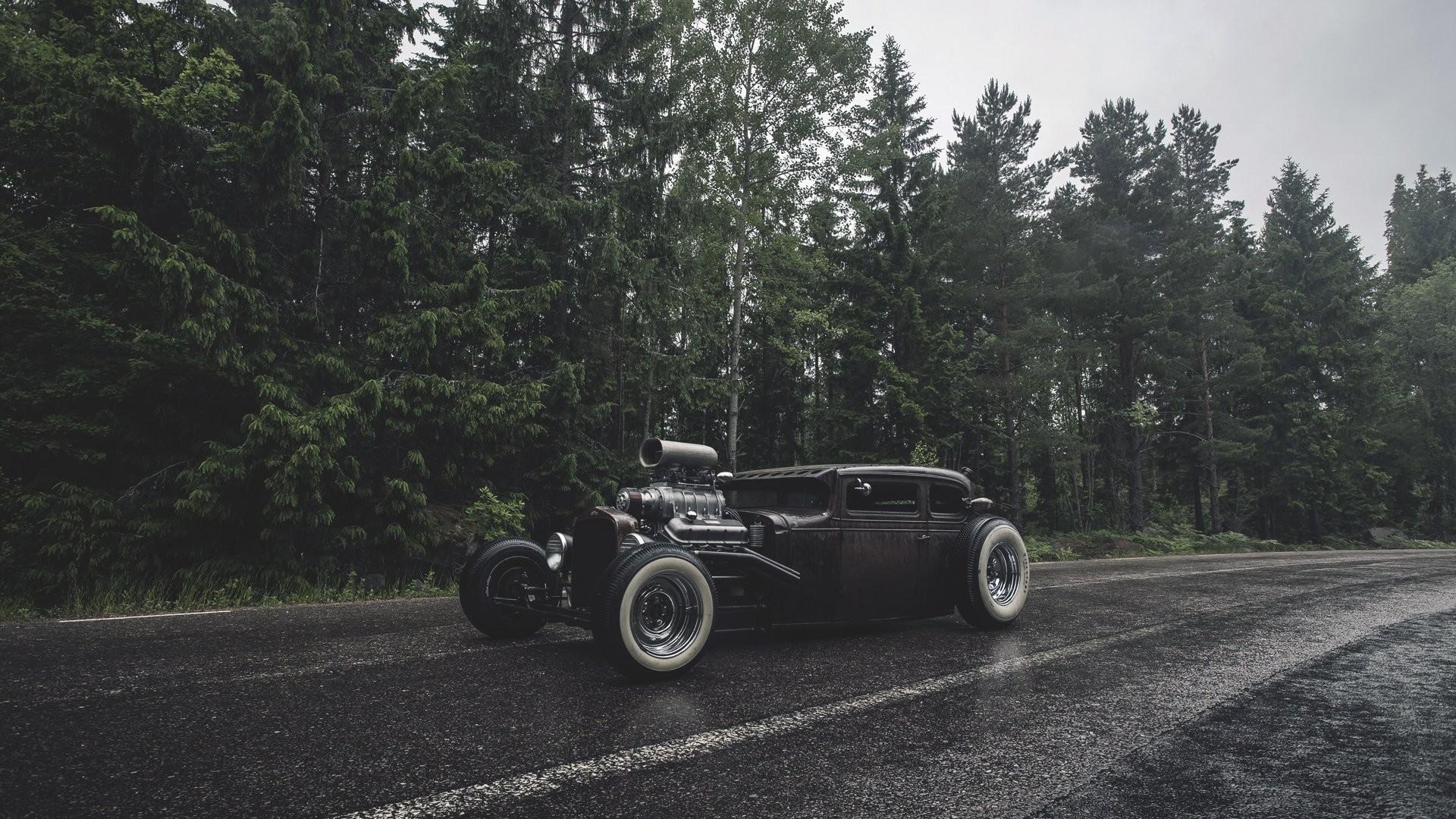 Black Hot Rod 3 - Antique Car - HD Wallpaper