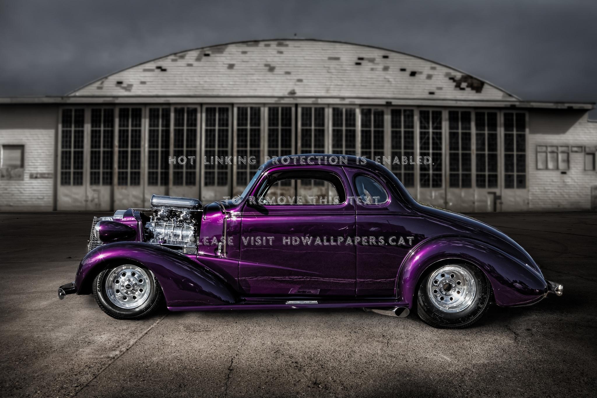 Purple Haze Car Hot Rod Street Ford - Color Violeta Hot Rod - HD Wallpaper
