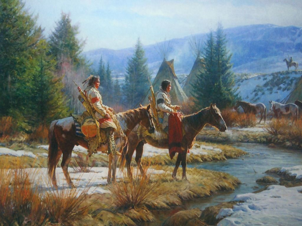 Red Indian Wallpaper Painting Of Native Americans 1024x768 Wallpaper Teahub Io