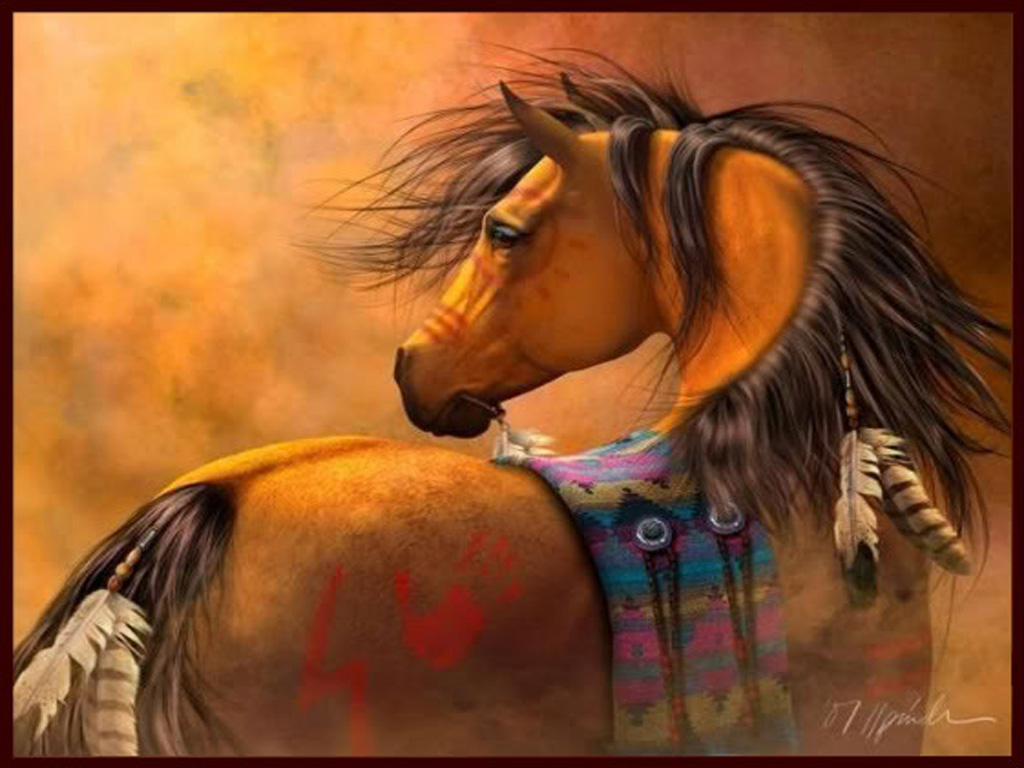 Beautiful Feather And Horse Image Native American Indian Horses 1024x768 Wallpaper Teahub Io