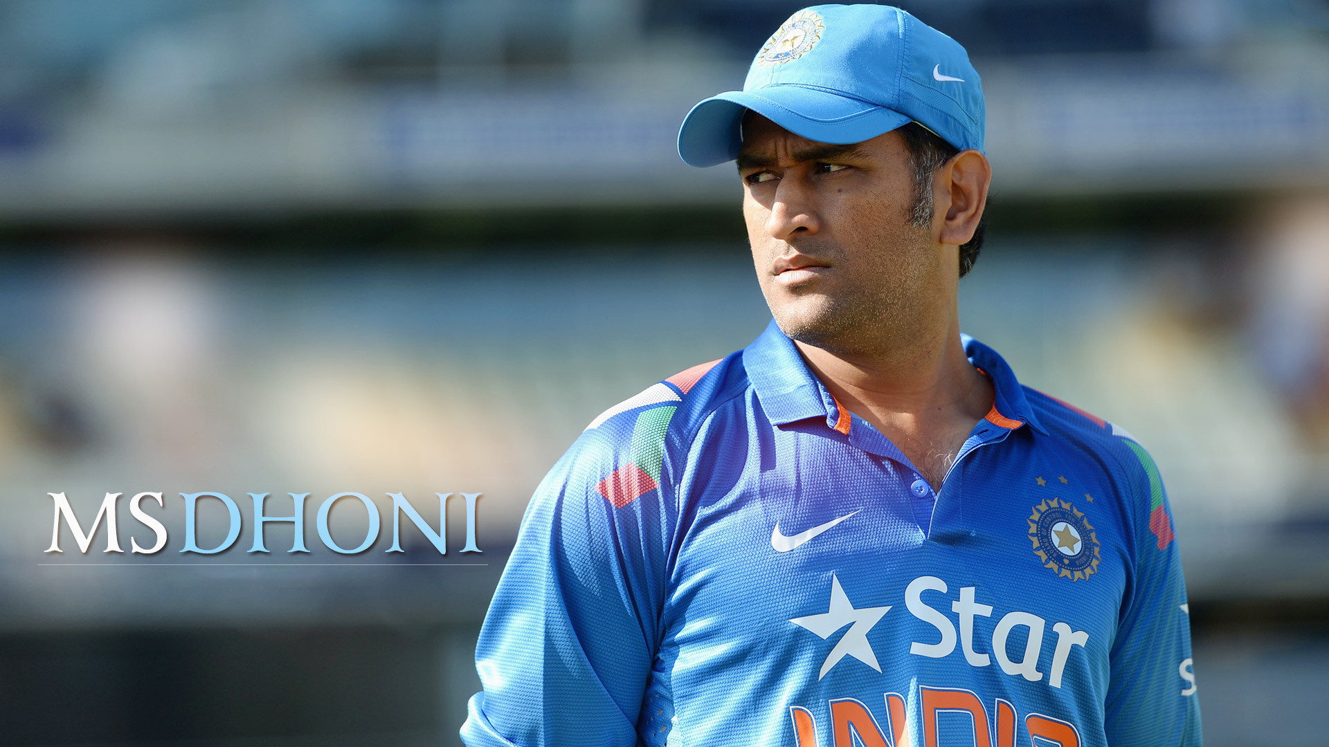 Ms Dhoni Indian Cricketer High Definition Wallpaper Indian Cricket Team Dhoni 1920x1080 Wallpaper Teahub Io