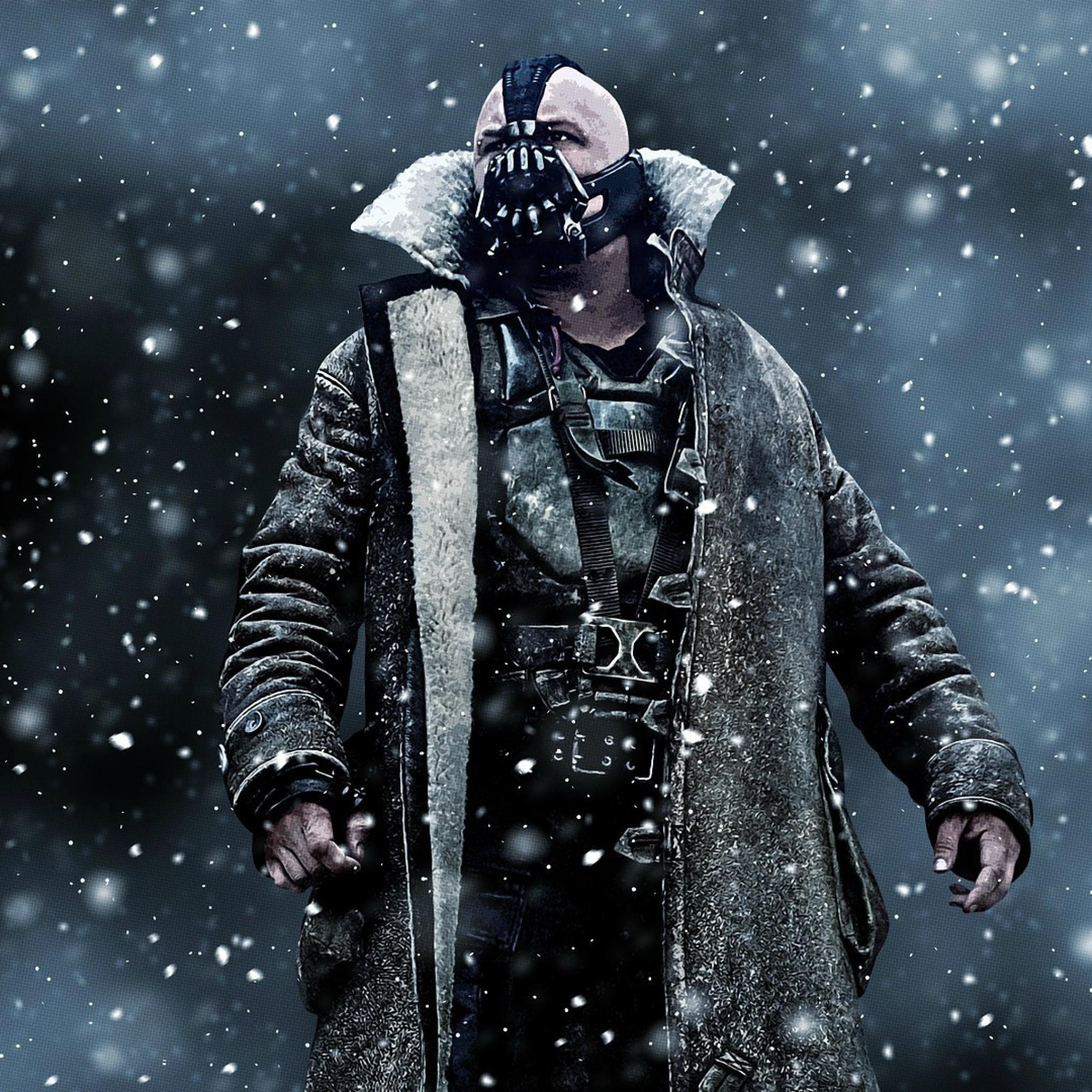 Wallpaper The Dark Knight Rises Bane Art Mask 2048x2048 Wallpaper Teahub Io