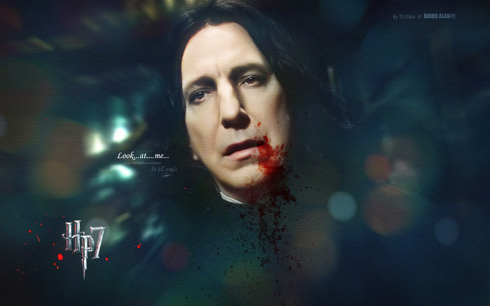 Severus Snape-look At Me - Harry Potter And The Deathly Hallows: Part Ii (2011) - HD Wallpaper