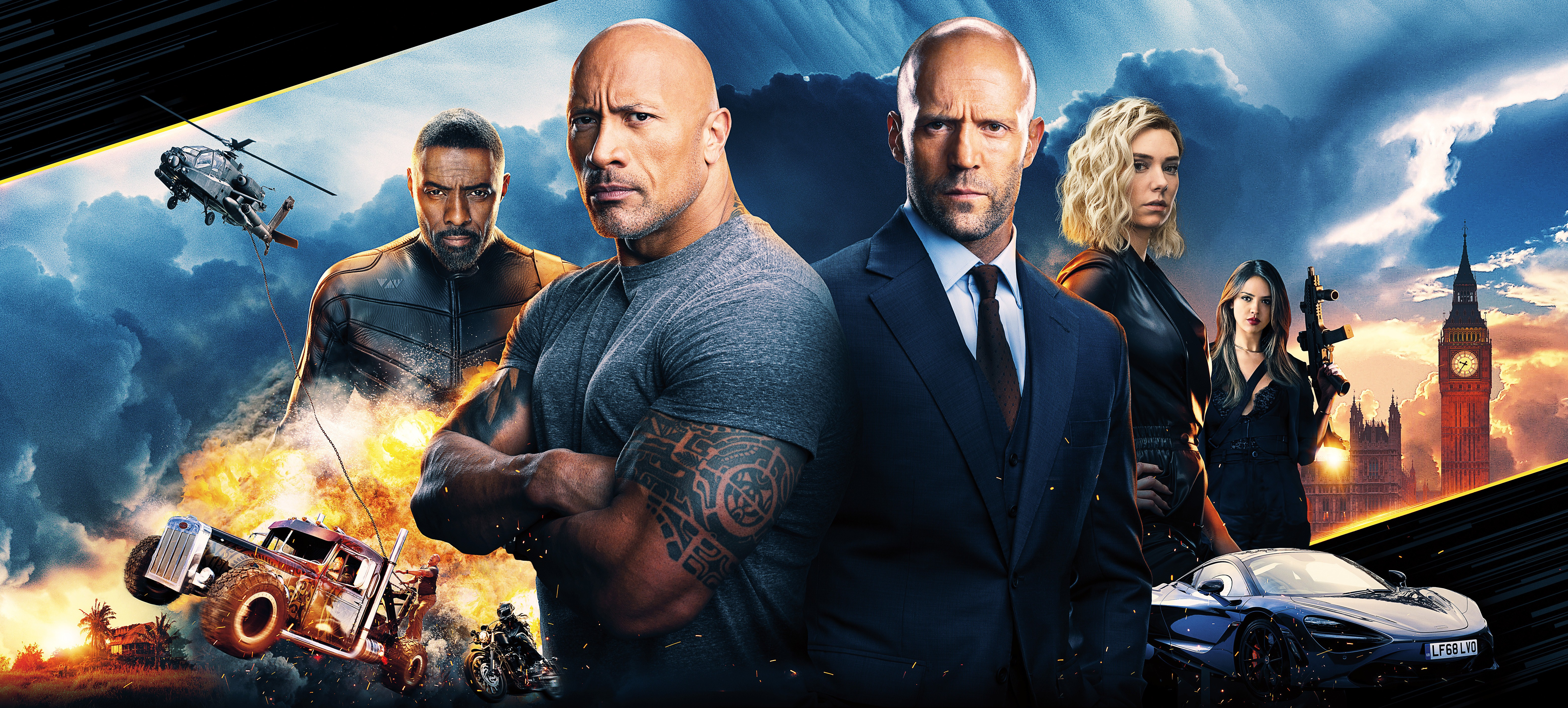 Fast And Furious Presents Star Cast Movie Wallpaper - Fast
