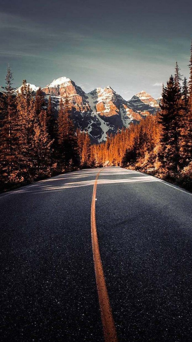 Winter Mountain Road Iphone Wallpaper Canada Wallpaper Iphone 11 625x1113 Wallpaper Teahub Io