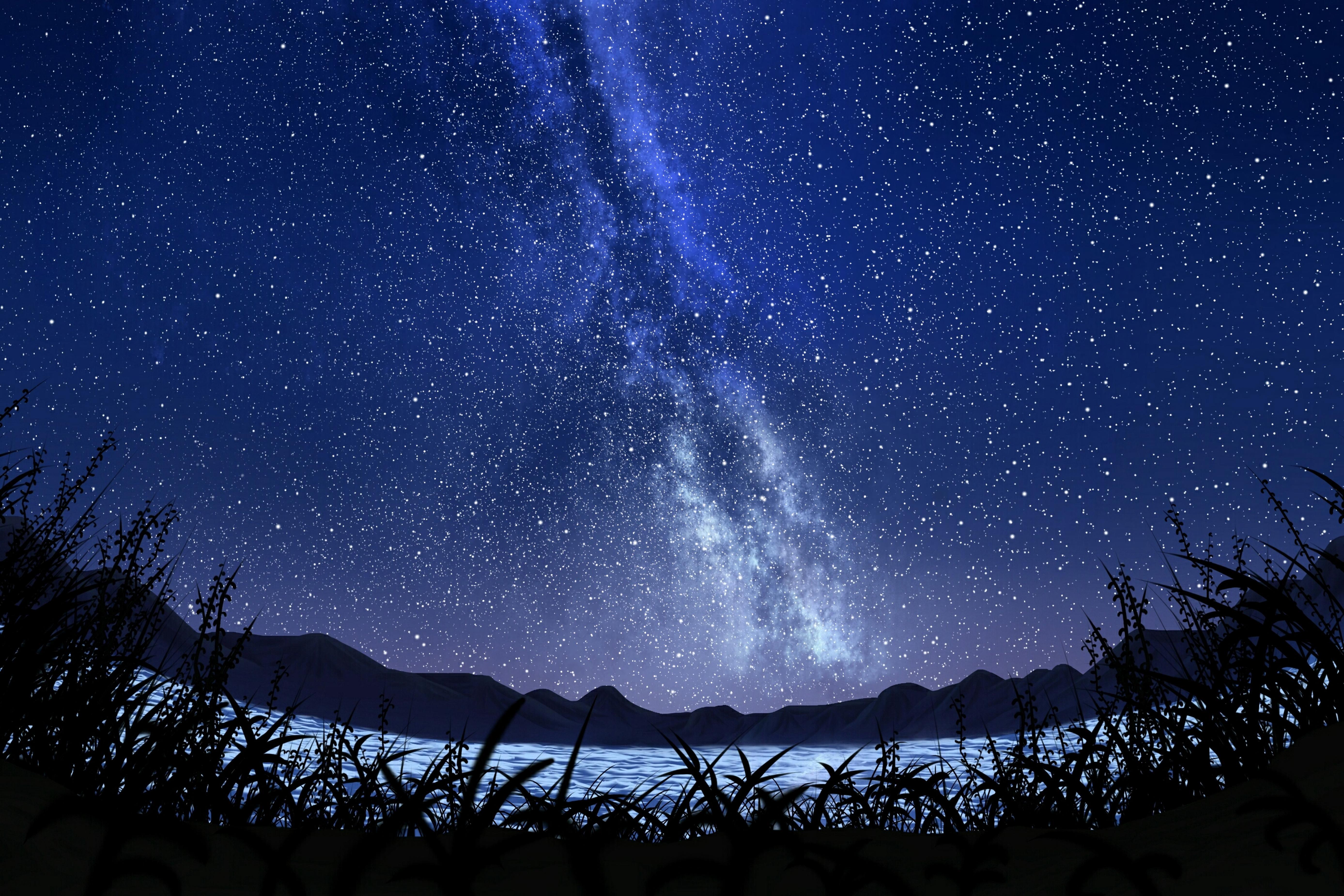 Bintang Langit Berbintang Bima Sakti Seni Malam 5550x3700 Wallpaper Teahub Io