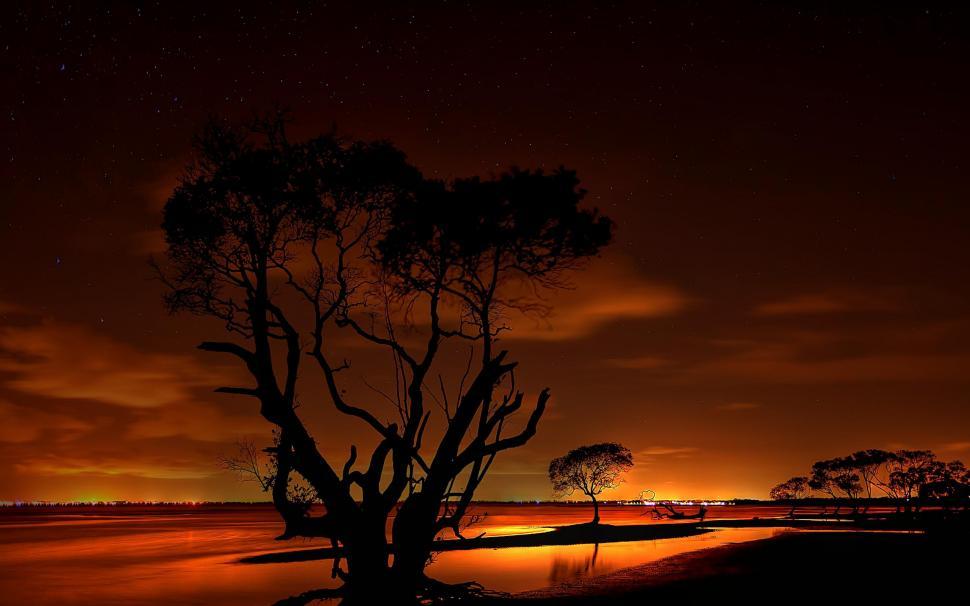 Golden Night Sky Wallpaper,evening Hd Wallpaper,stars - Beautiful Dark Sunset Hd - HD Wallpaper