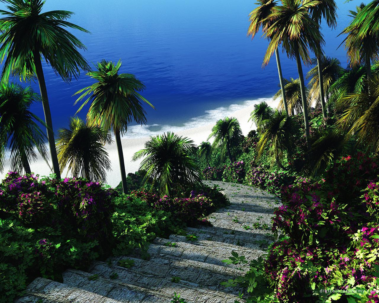 Nature 3d Wallpaper Hd For Desktop Free Download - Digital Blasphemy Free Beach - HD Wallpaper