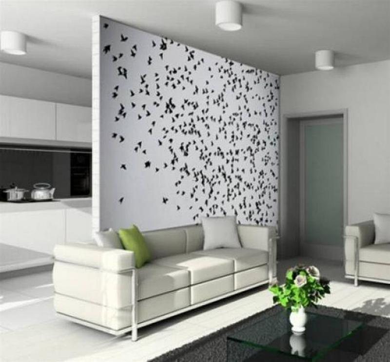 Painting Ideas For Living Room Walls, Wallpaper Accent - Living Room Wall Paint Design - HD Wallpaper
