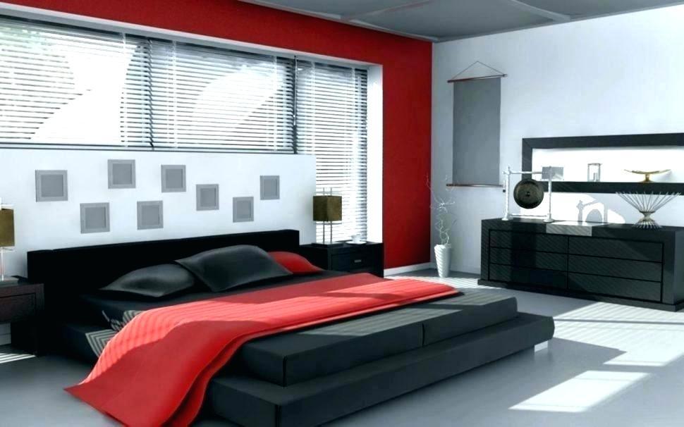 Red White Bedroom Black Wallpaper Decorating Ideas - Luxury Modern Red Bedroom - HD Wallpaper