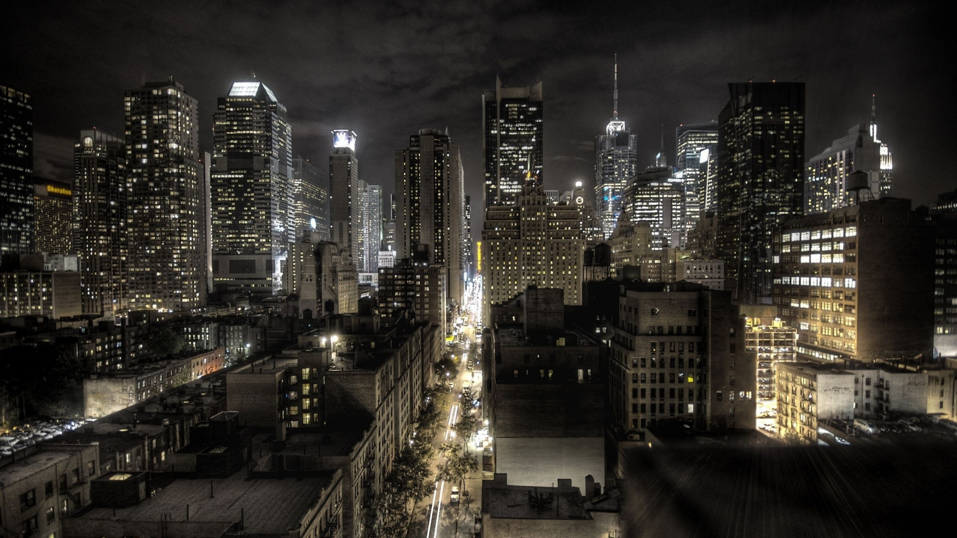 United States Of America Night Top View Hd Wallpapers - Night New York City - HD Wallpaper