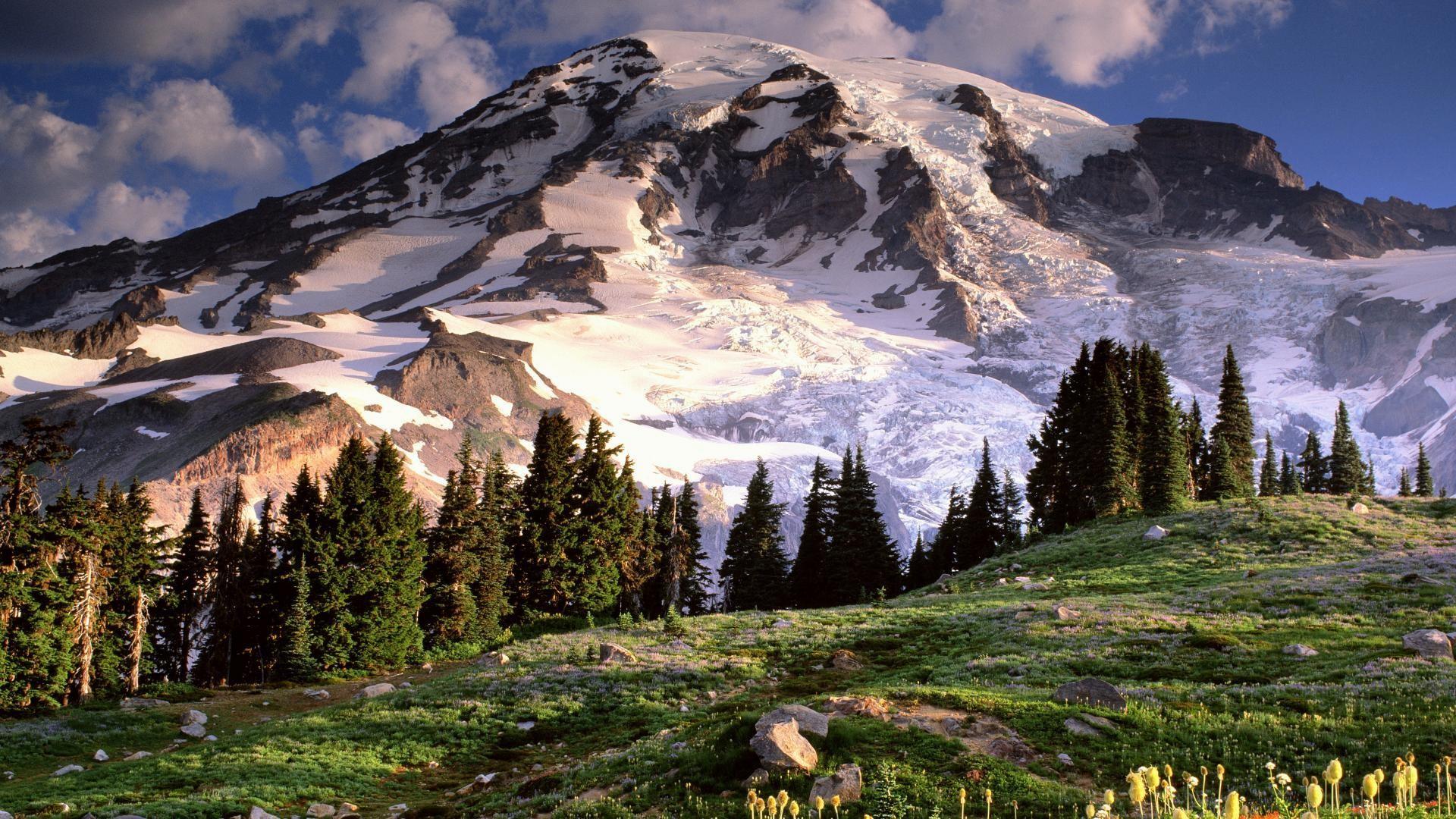 Wiki Mount Everest From The Ground Wallpaper Data Mt Rainier High Resolution 1920x1080 Wallpaper Teahub Io