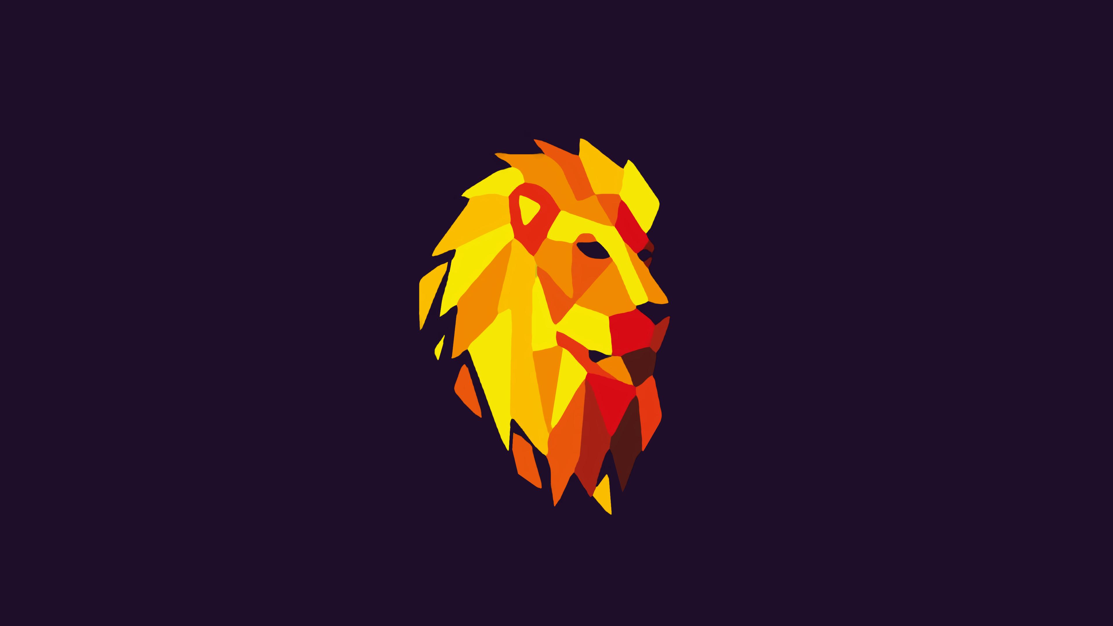 Abstract Lion Wallpaper 4k - HD Wallpaper