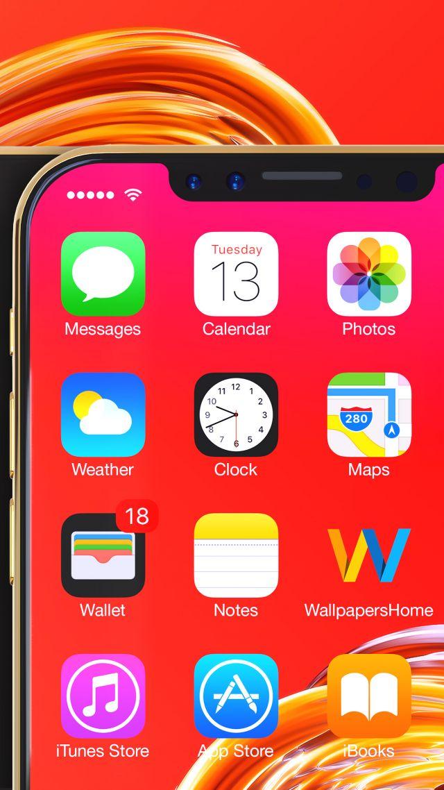Iphone X, Gold, 3d, Leaked, Wwdc 2017, 4k - Iphone Home Screen Hd - HD Wallpaper