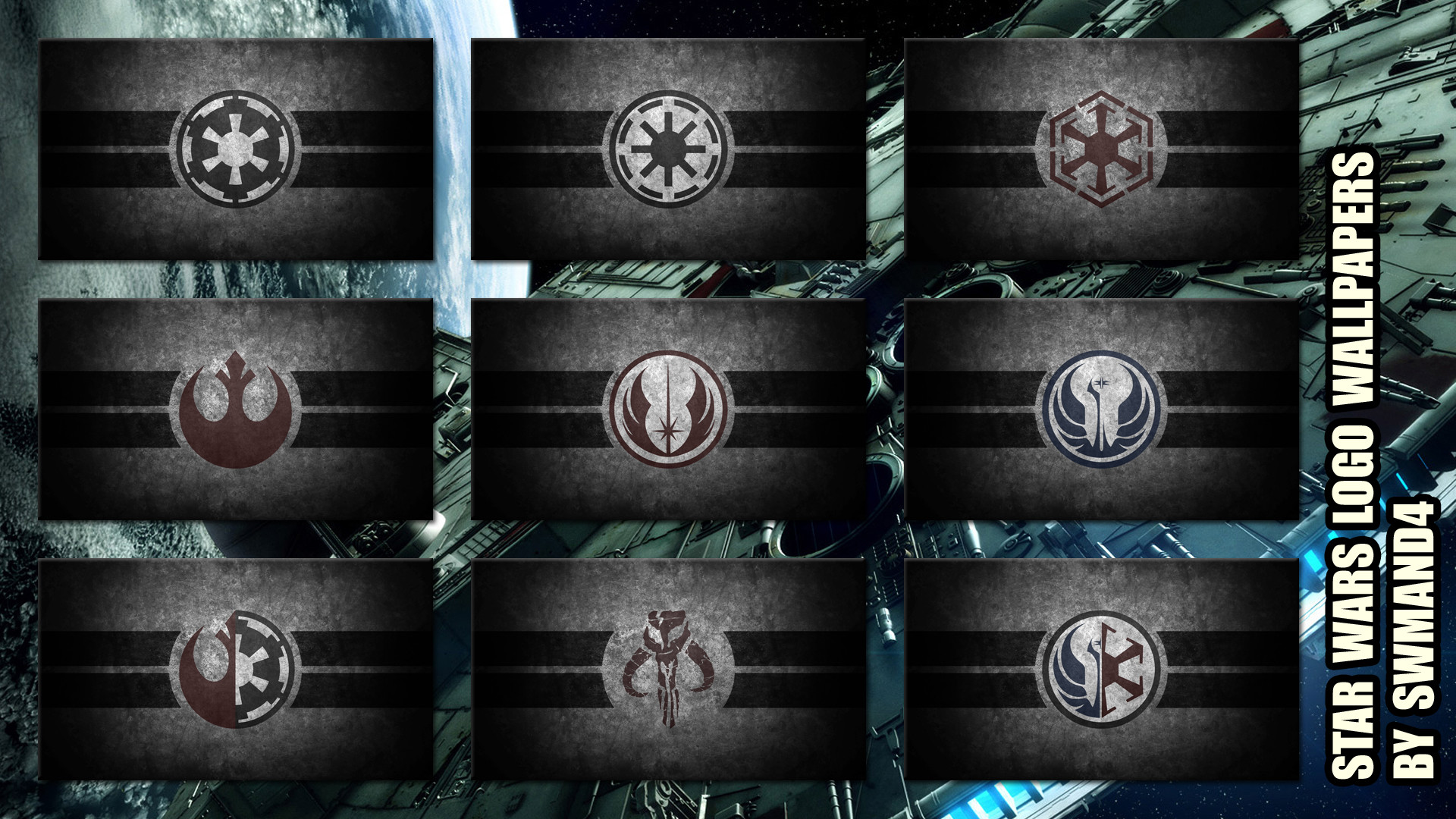Star Wars Logos Wallpapers By Swmand4 Star Wars Logos Star Wars Grey Jedi Symbol 1920x1080 Wallpaper Teahub Io