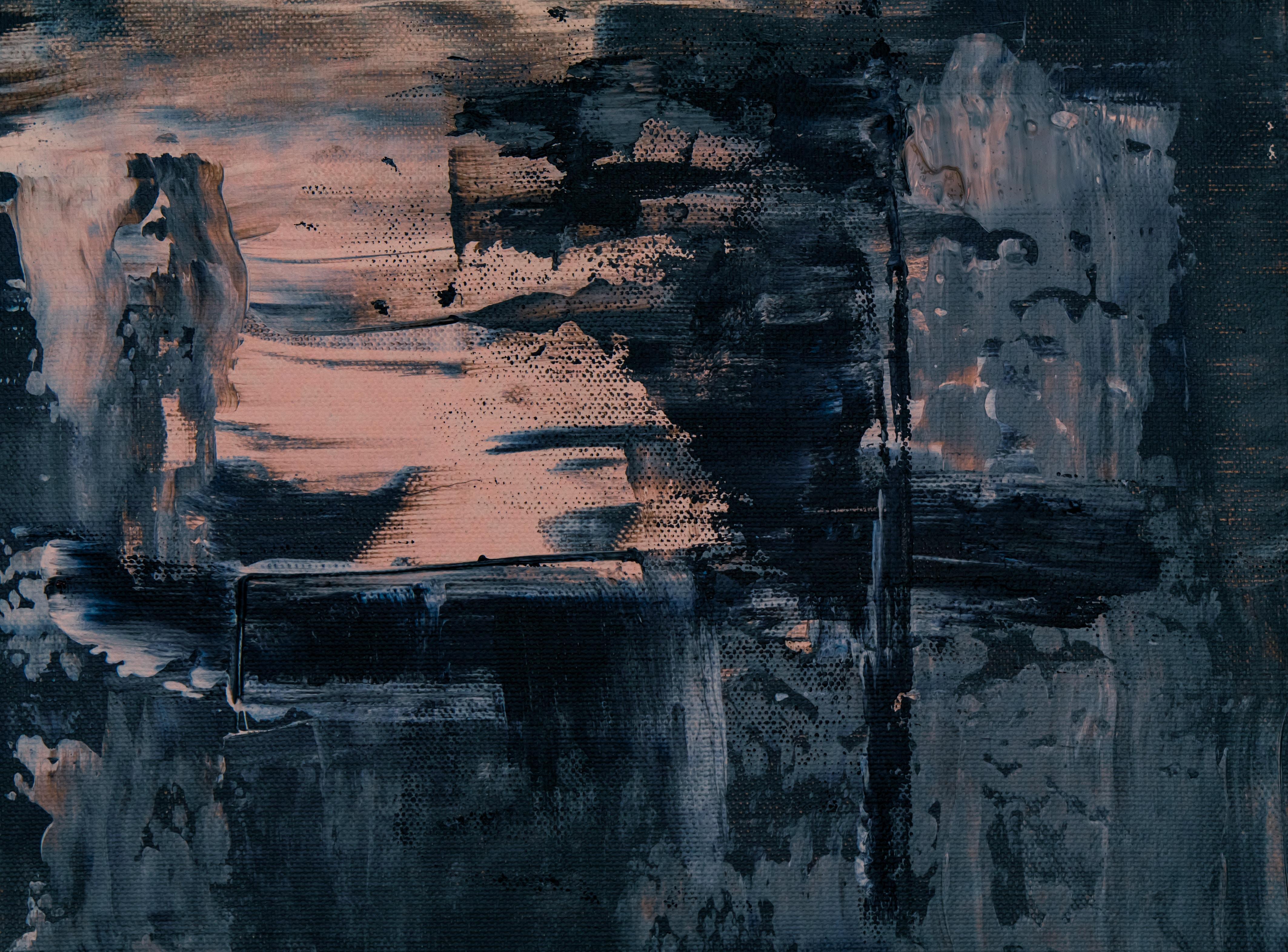Paint, Canvas, Relief, Dark, Acrylic - HD Wallpaper