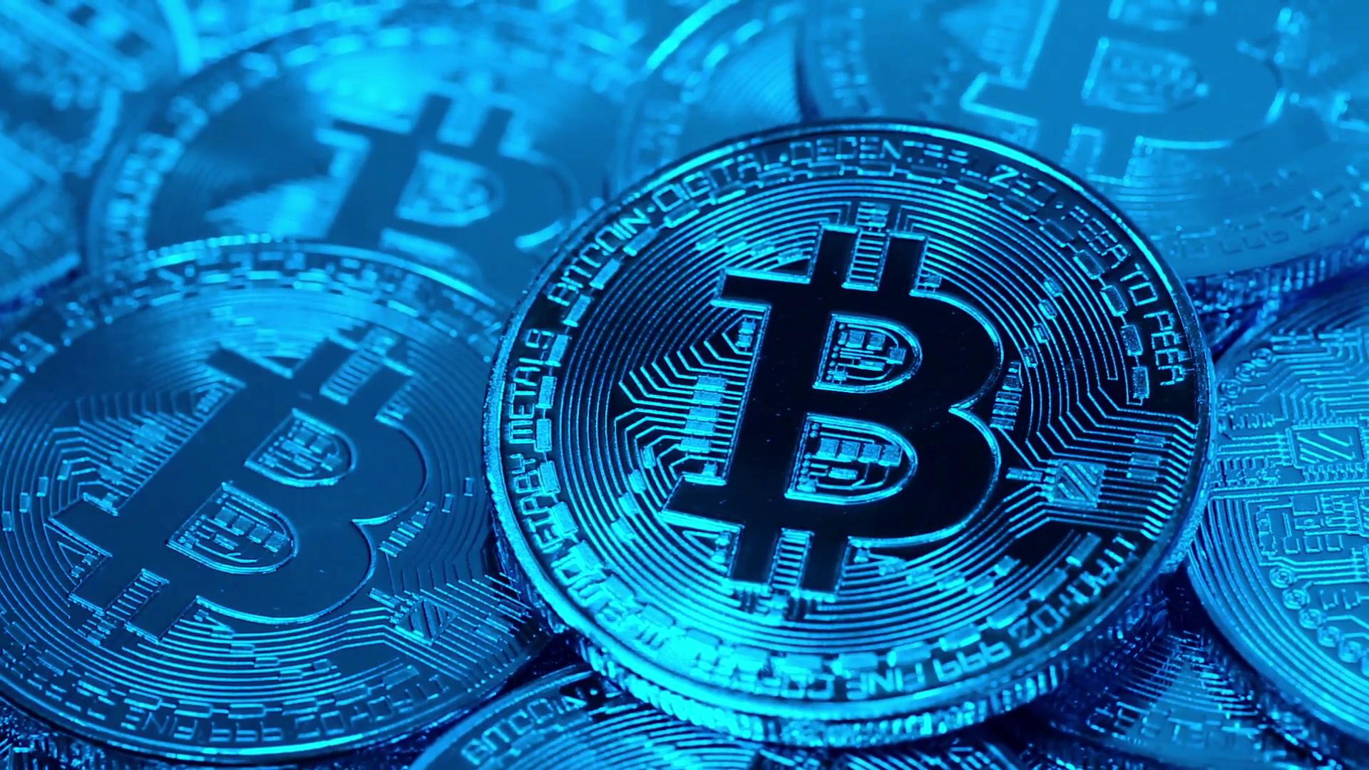 Bitcoin Blue 1920x1080 Wallpaper Teahub Io