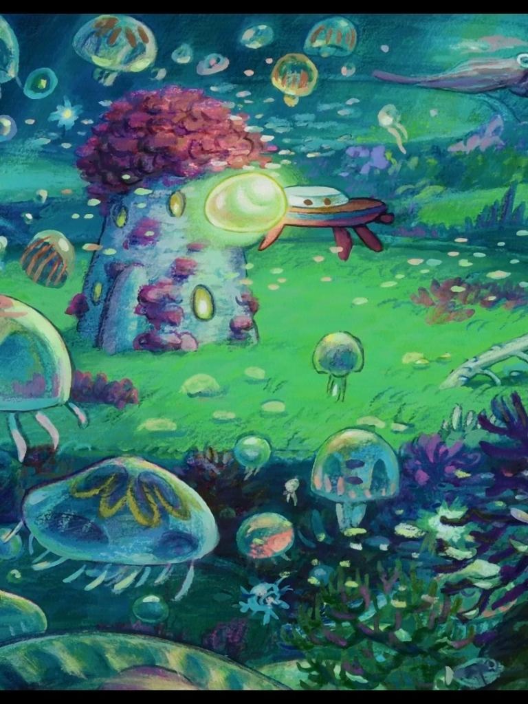 Ponyo Landscape - HD Wallpaper