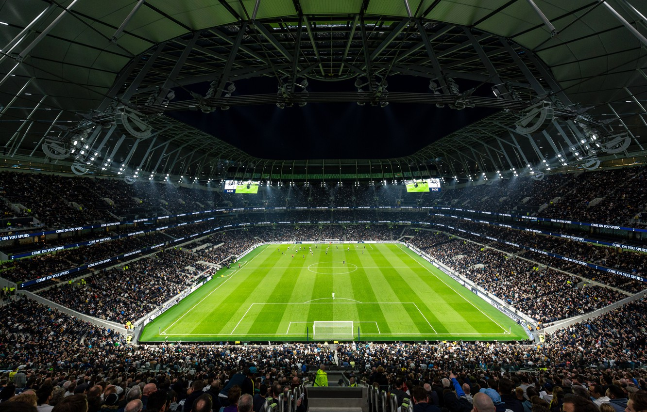 Photo Wallpaper Field Football Stadium Stadium Tottenham Hotspur Stadium Capacity 1332x850 Wallpaper Teahub Io