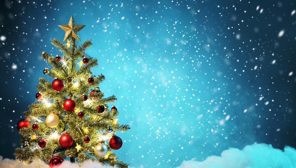 Merry Christmas, New Year, Ornament, Light Balls, Christmas - High Resolution Christmas Background - HD Wallpaper
