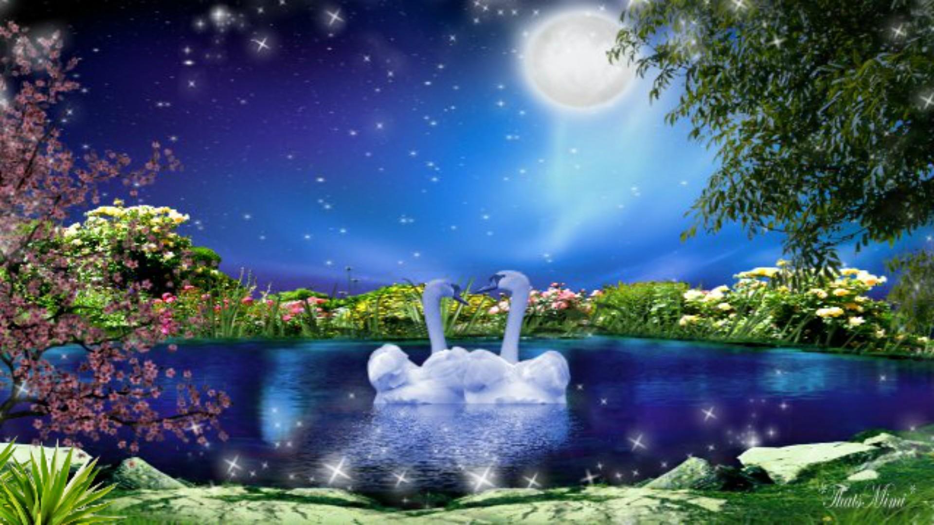 1920x1080, Romantic Full Moon Wallpaper Full Hd For - Beautiful Romantic Full Moon - HD Wallpaper