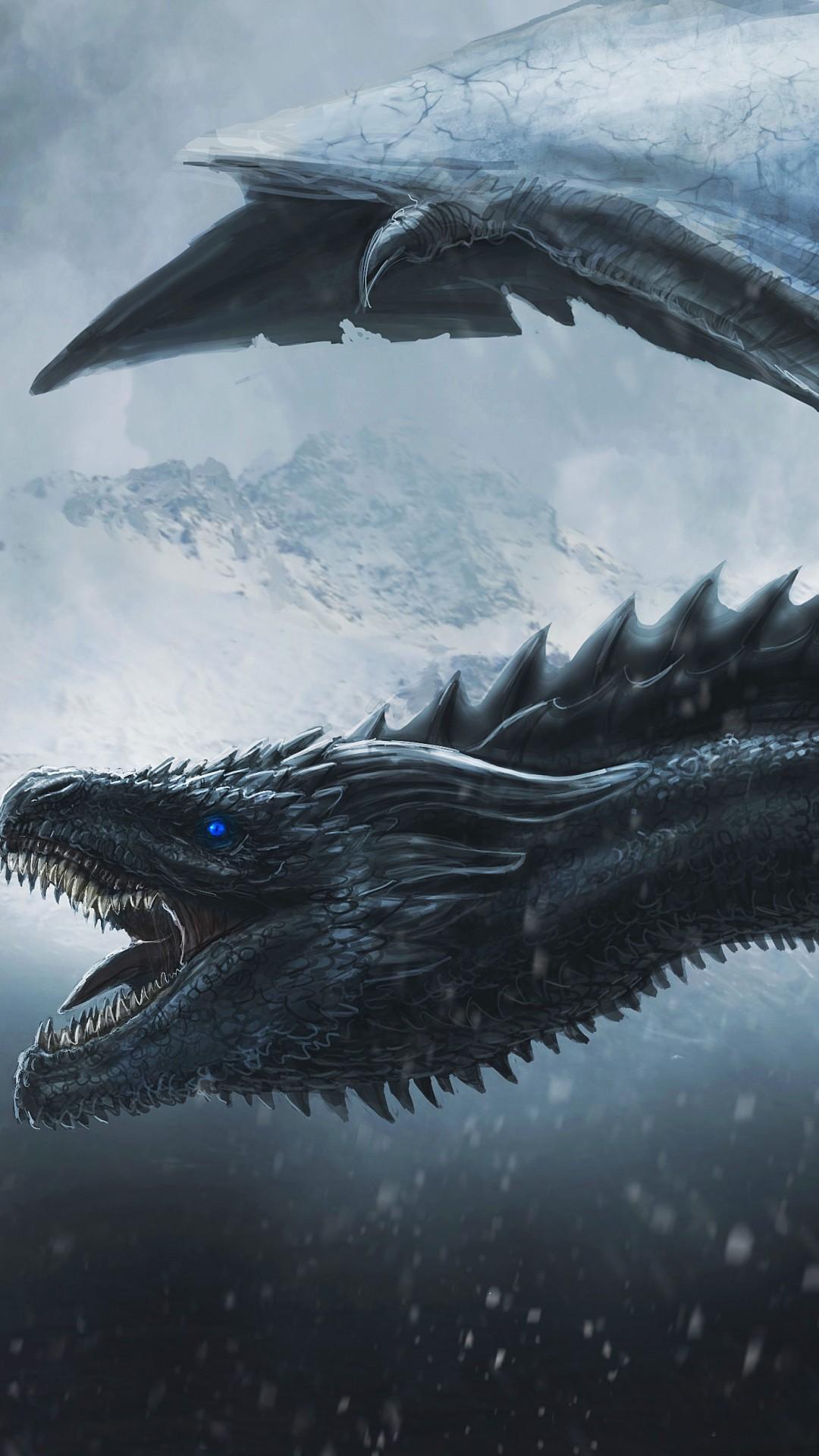 Night King Dragon Game Of Thrones Desktop Wallpaper - 4k Dragon - HD Wallpaper